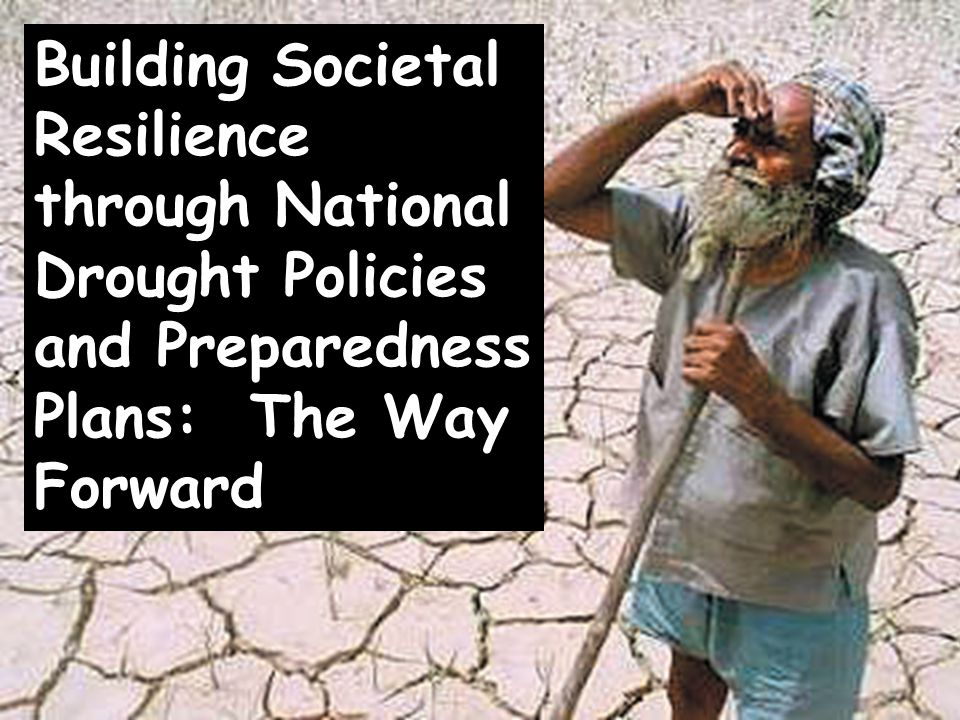 Building Societal Resilience through National Drought Policies and Preparedness Plans: The Way Forward