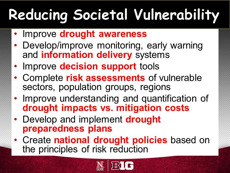 Reducing Societal Vulnerability