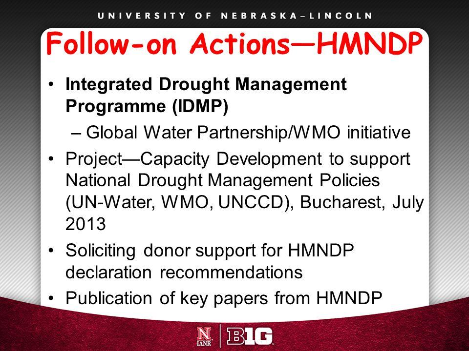 Follow-on Actions—HMNDP