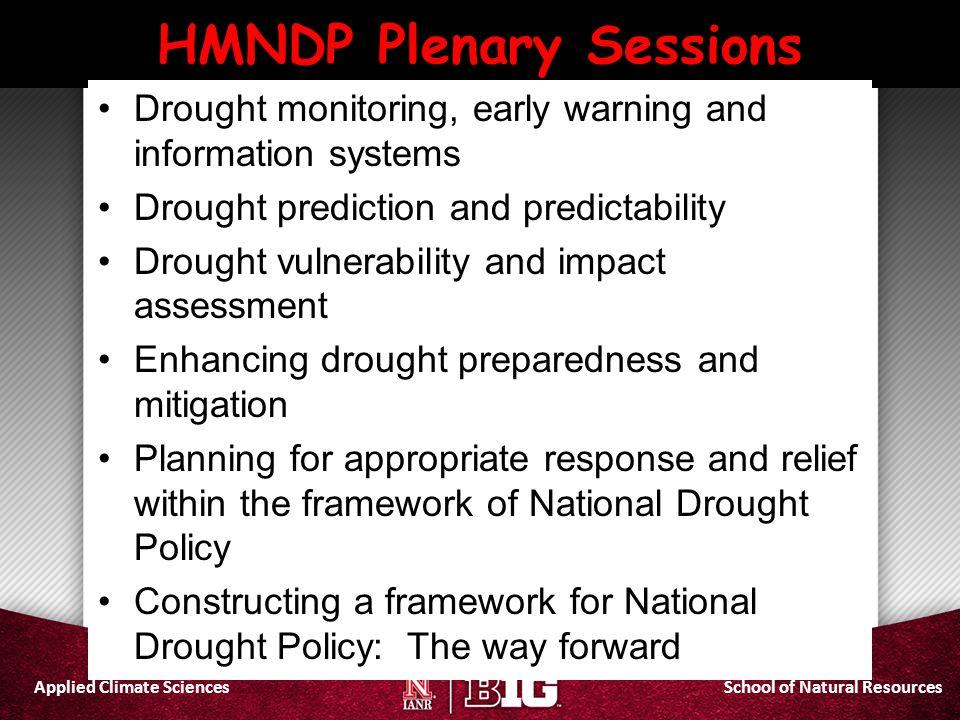 HMNDP Plenary Sessions