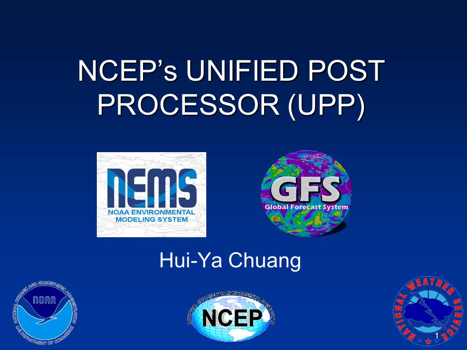 NCEP's UNIFIED POST PROCESSOR (UPP)