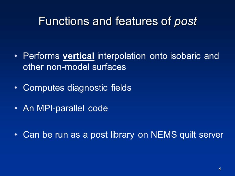 Functions and features of post