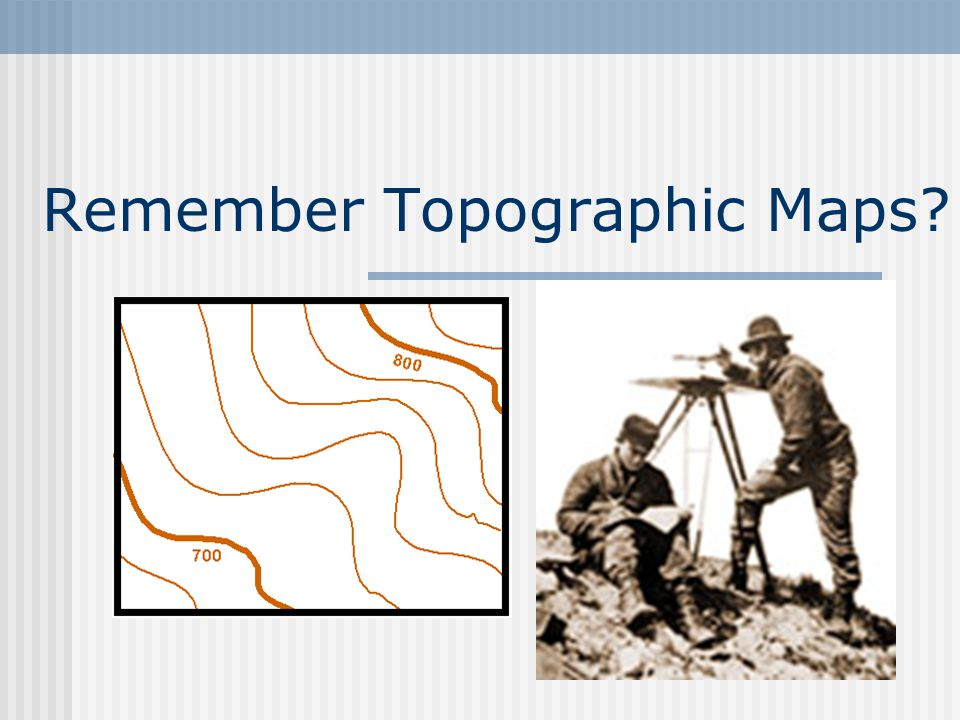 Remember Topographic Maps