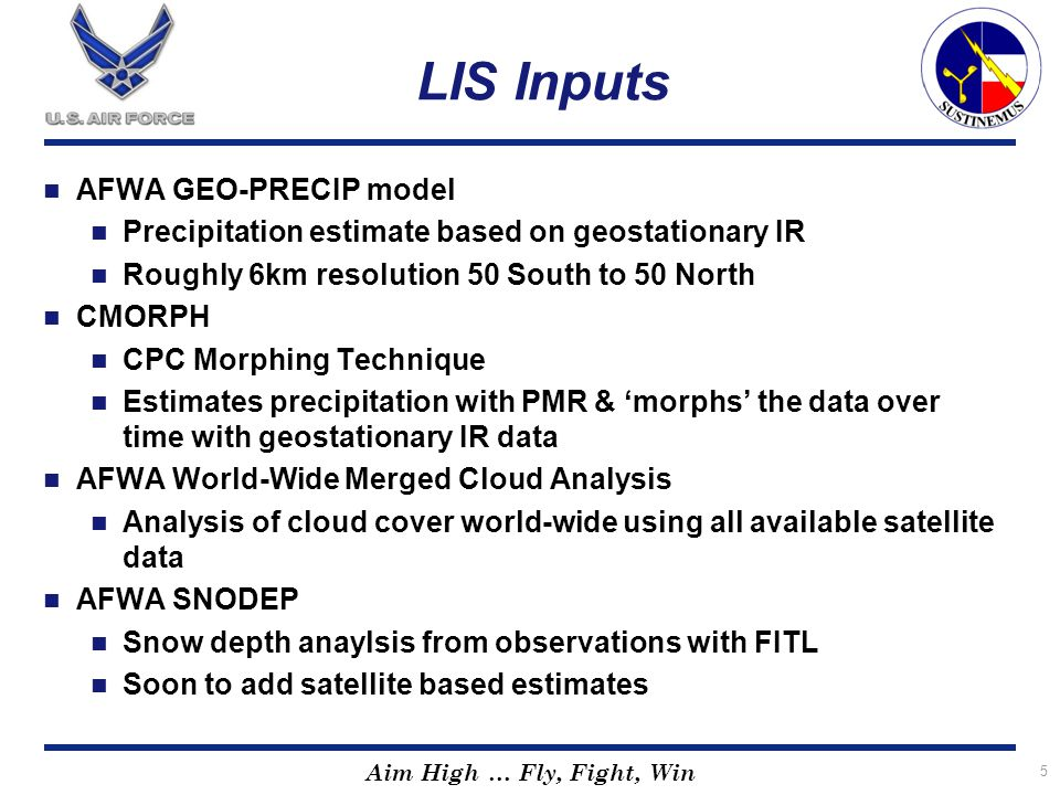 LIS Inputs AFWA GEO-PRECIP model