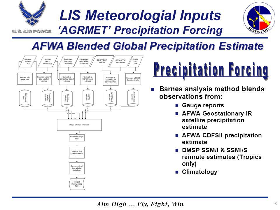 LIS Meteorologial Inputs 'AGRMET' Precipitation Forcing