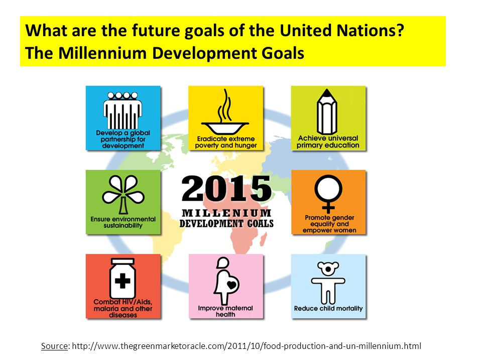 What are the future goals of the United Nations
