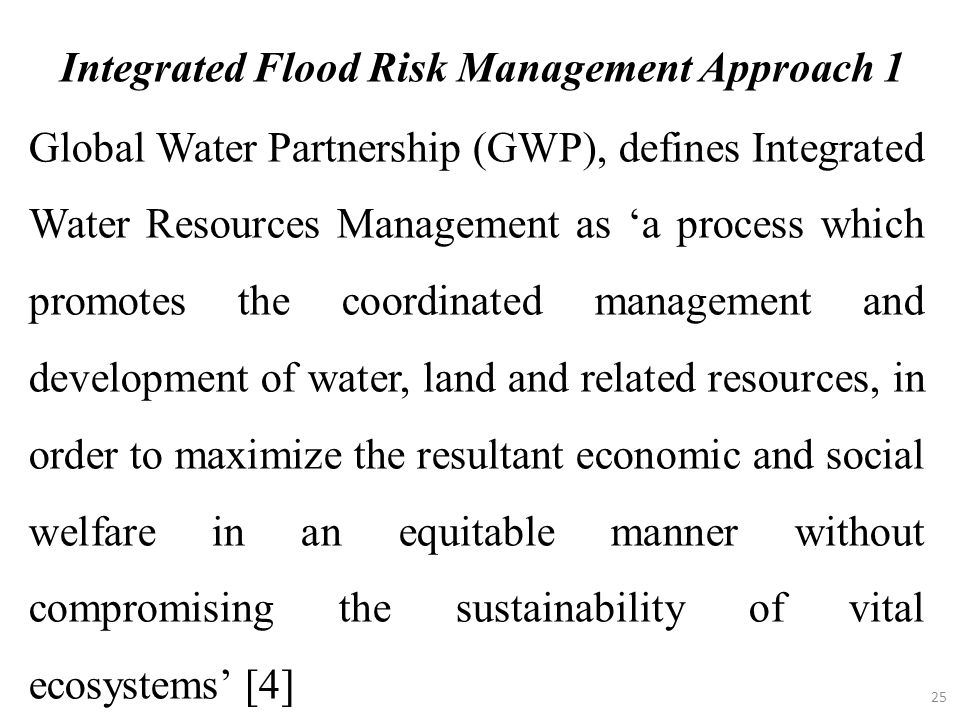 Integrated Flood Risk Management Approach 1