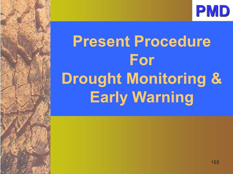Drought Monitoring & Early Warning