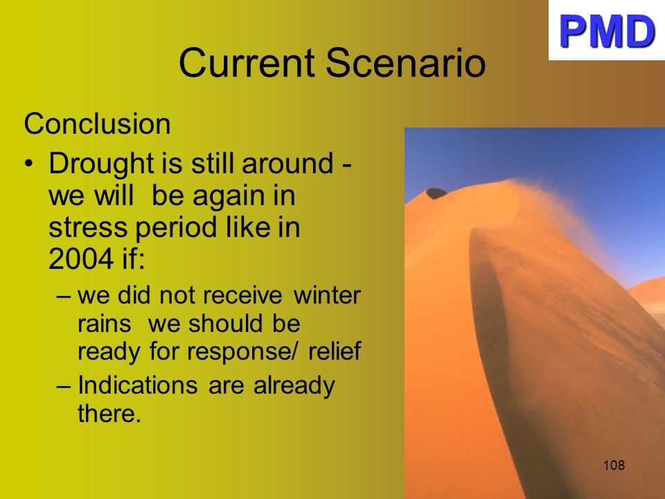 PMD Current Scenario Conclusion
