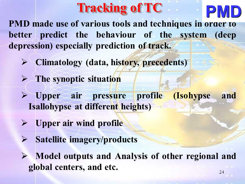 Tracking of TC PMD.