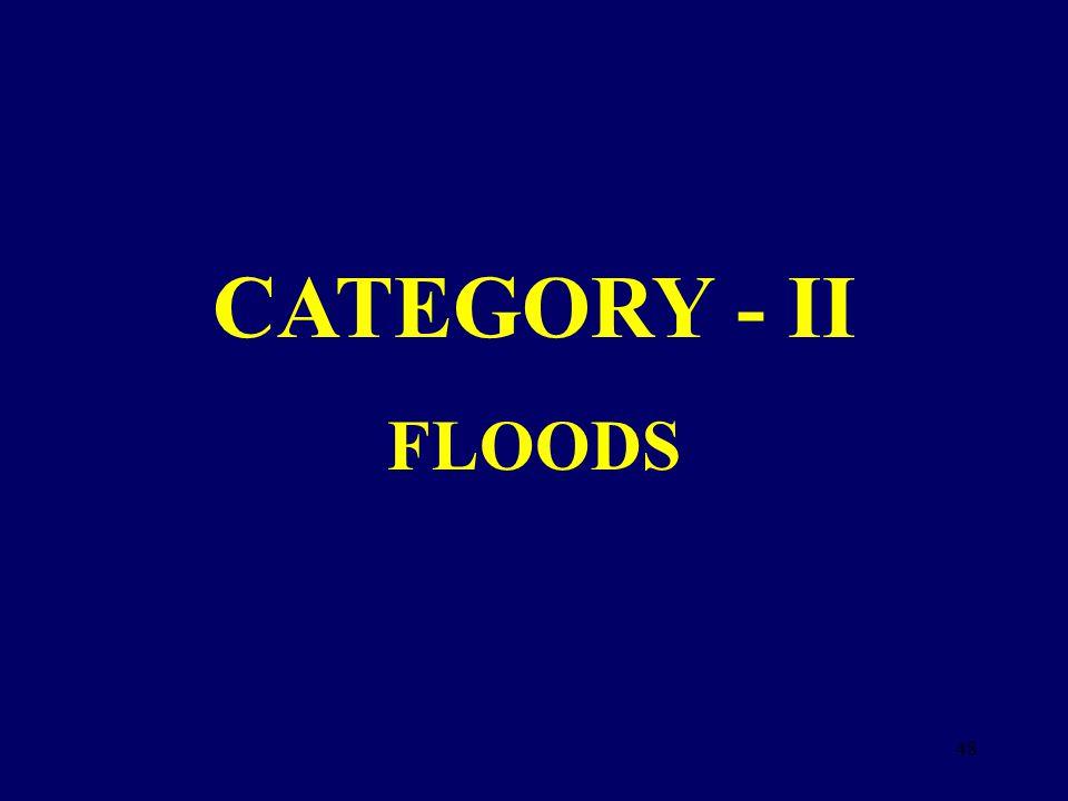 CATEGORY - II FLOODS