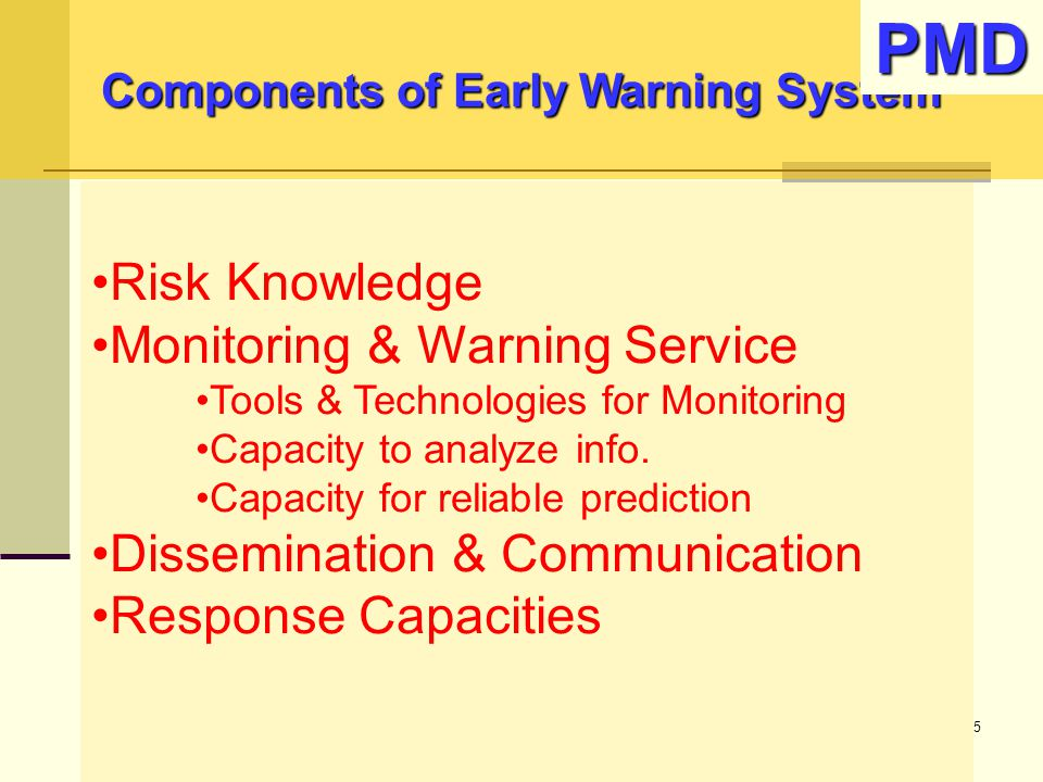 Components of Early Warning System