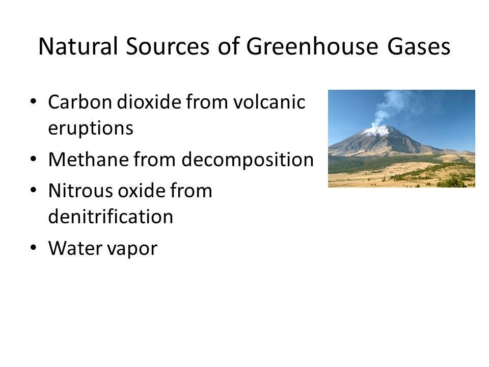 Natural Sources of Greenhouse Gases