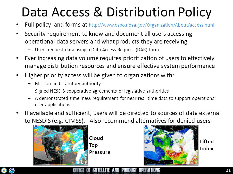 Data Access & Distribution Policy