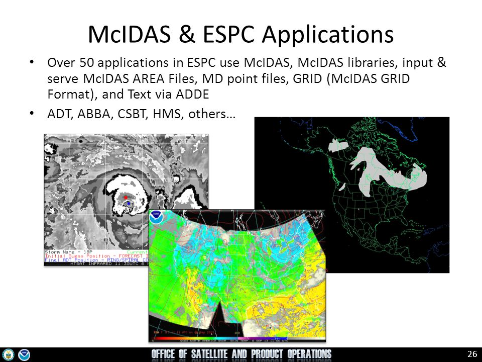 McIDAS & ESPC Applications