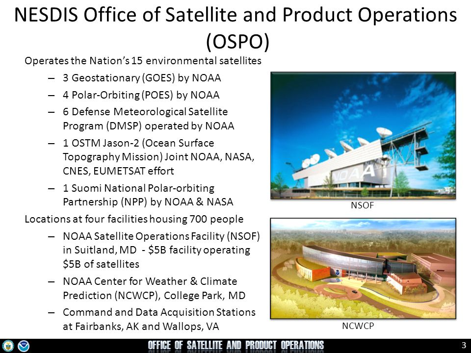 NESDIS Office of Satellite and Product Operations (OSPO)