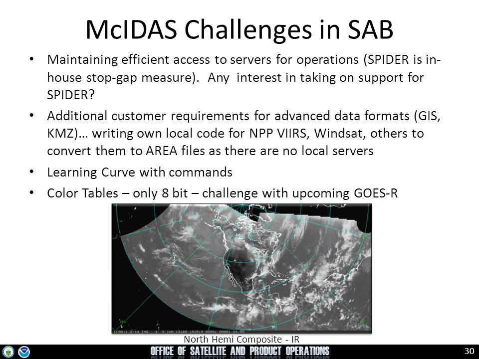 McIDAS Challenges in SAB