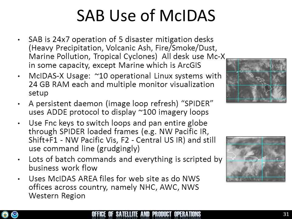 SAB Use of McIDAS