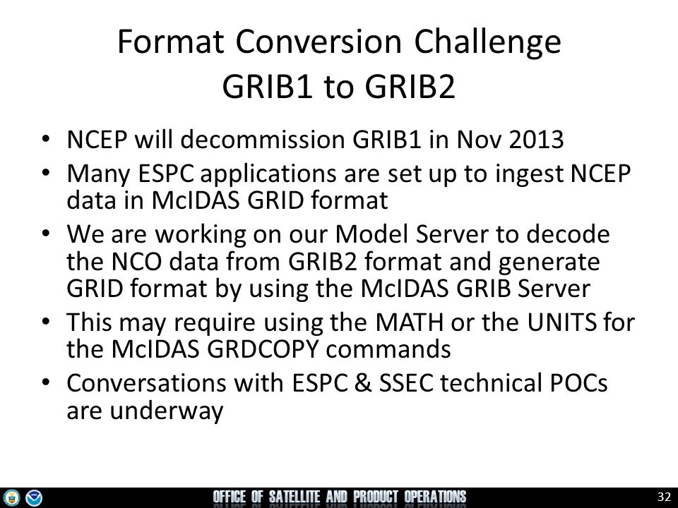 Format Conversion Challenge GRIB1 to GRIB2