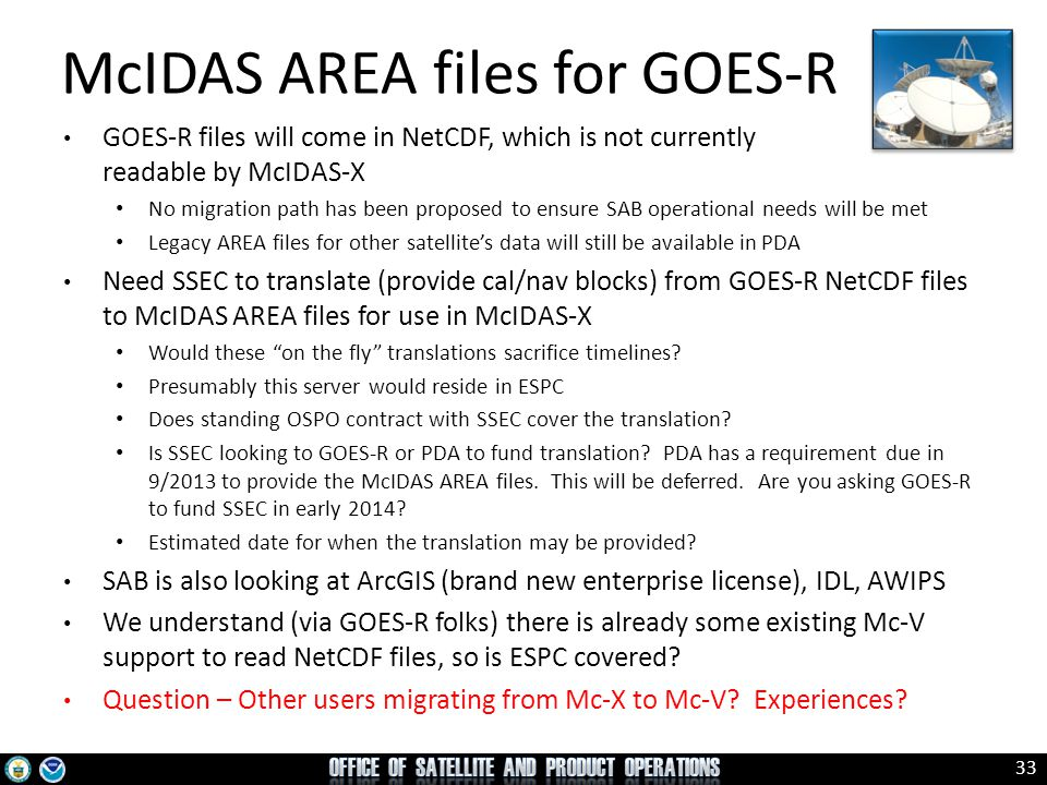 McIDAS AREA files for GOES-R