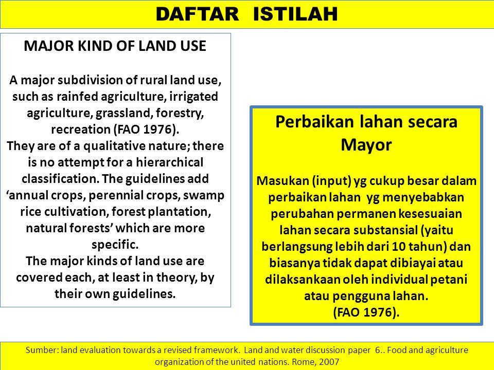 Perbaikan lahan secara Mayor