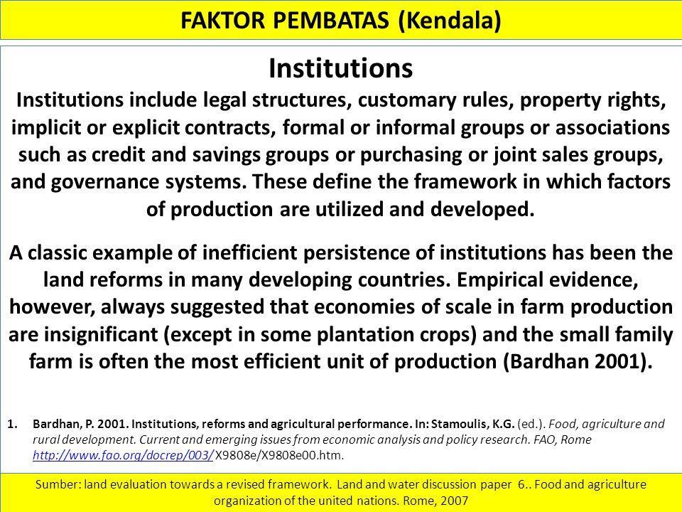FAKTOR PEMBATAS (Kendala)
