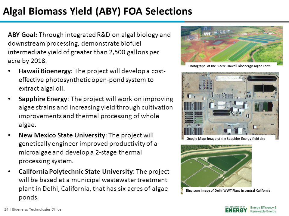 Algal Biomass Yield (ABY) FOA Selections