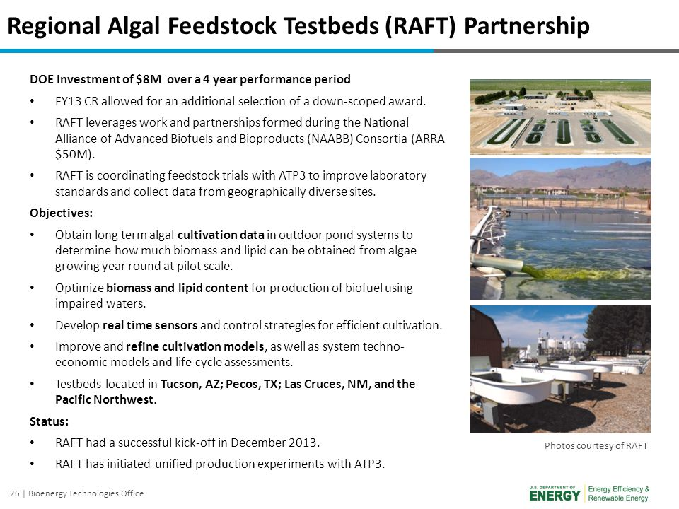 Regional Algal Feedstock Testbeds (RAFT) Partnership