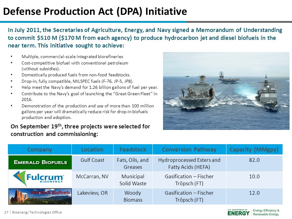 Defense Production Act (DPA) Initiative