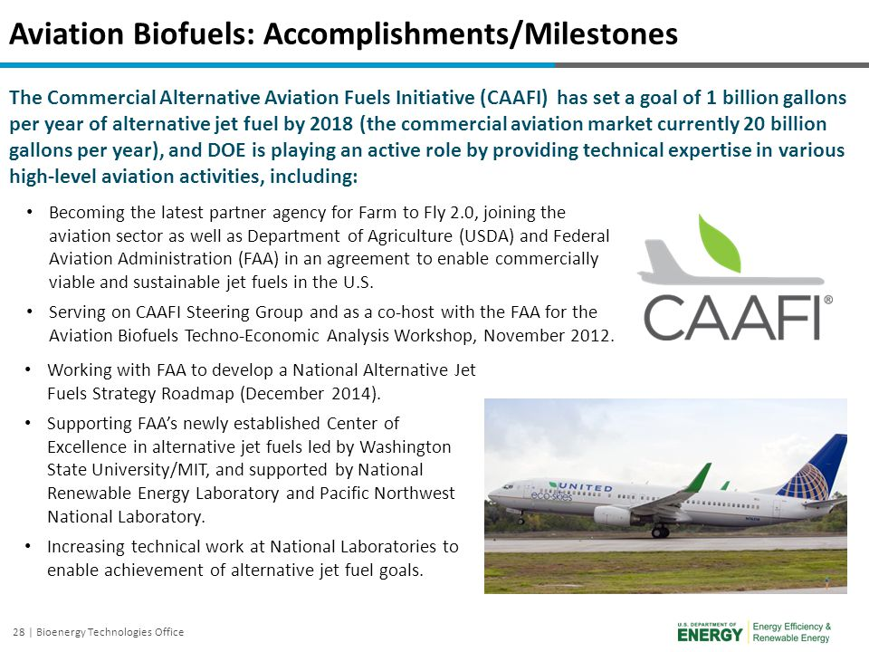 Aviation Biofuels: Accomplishments/Milestones