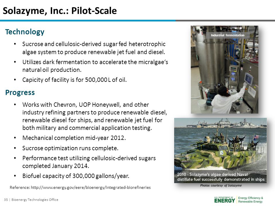 Solazyme, Inc.: Pilot-Scale
