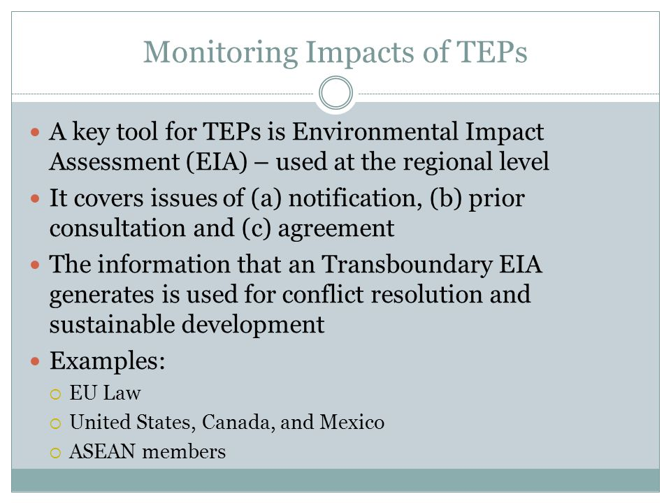 Monitoring Impacts of TEPs
