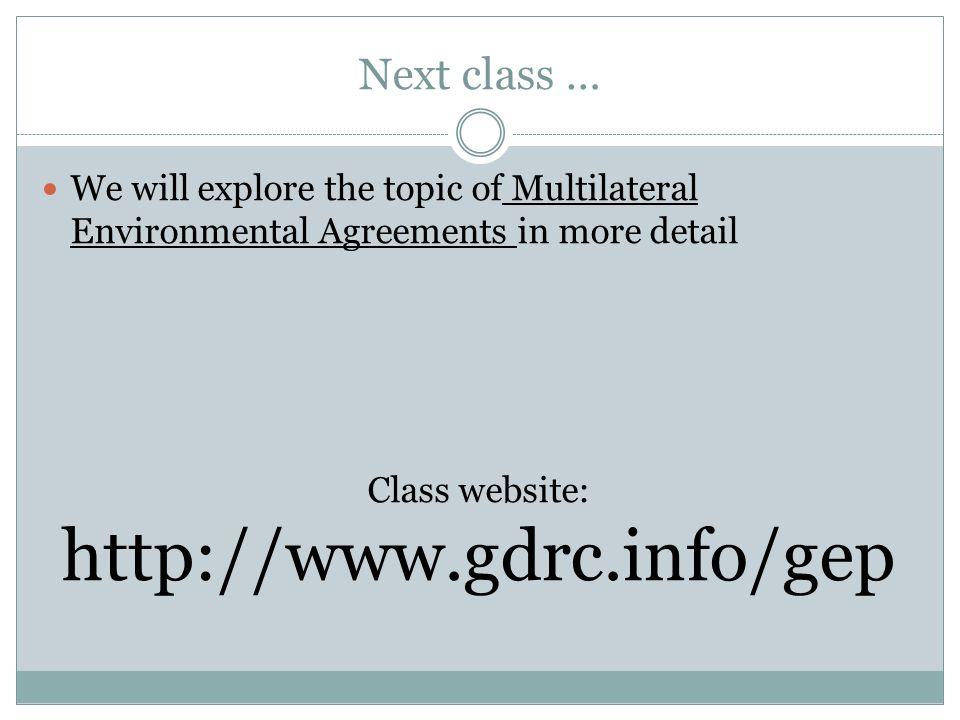 Class website: http://www.gdrc.info/gep