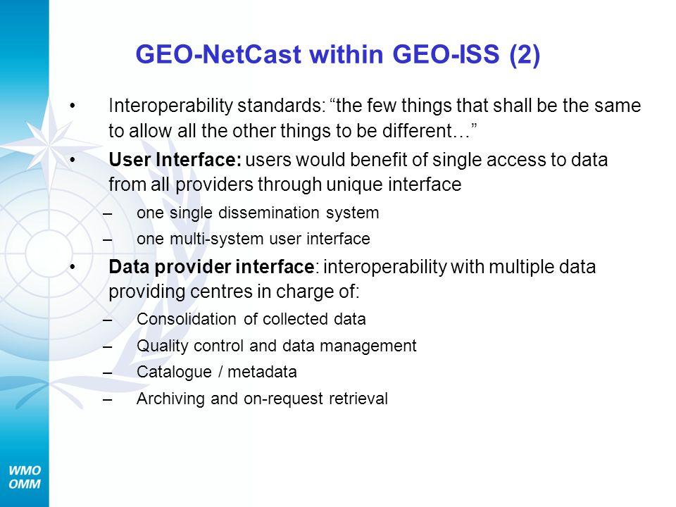 GEO-NetCast within GEO-ISS (2)