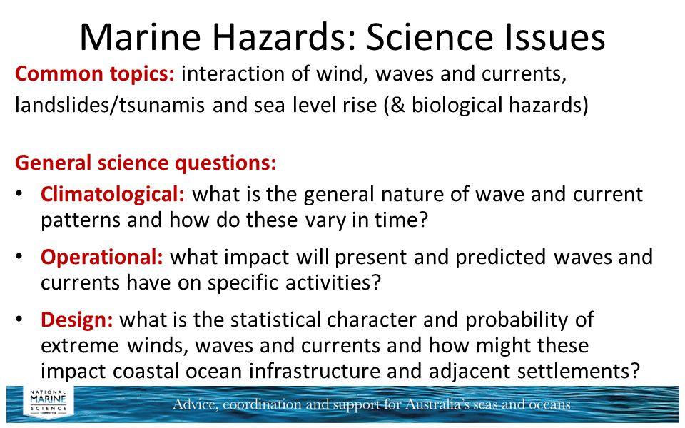 Marine Hazards: Science Issues