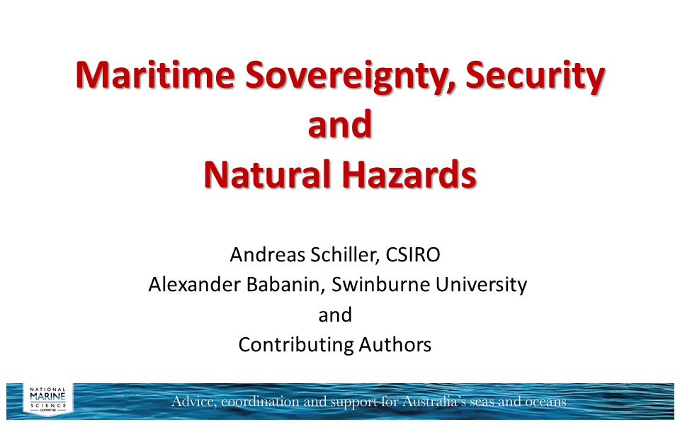 Maritime Sovereignty, Security and Natural Hazards