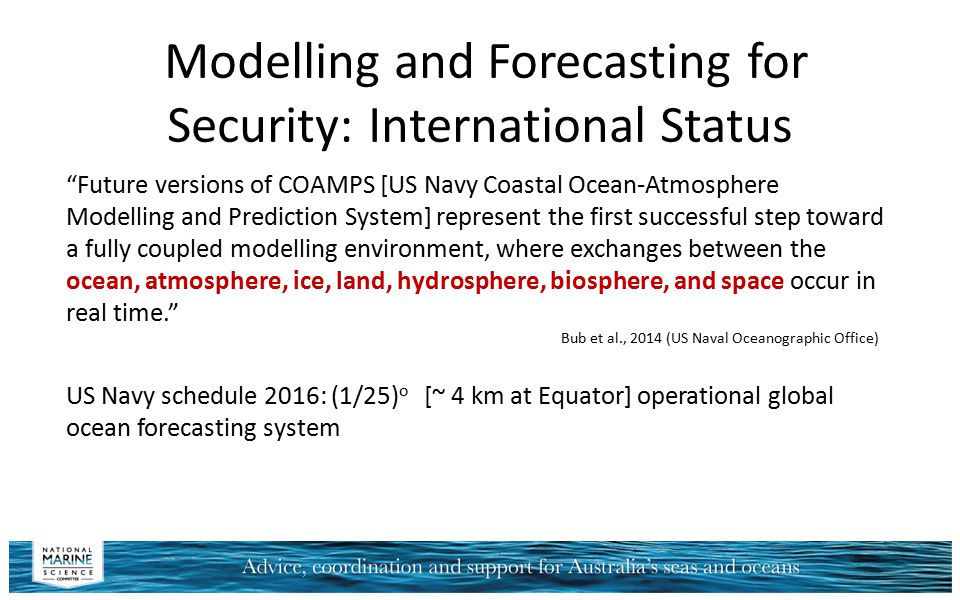 Modelling and Forecasting for Security: International Status