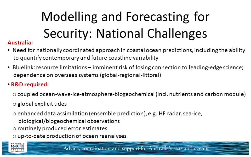 Modelling and Forecasting for Security: National Challenges