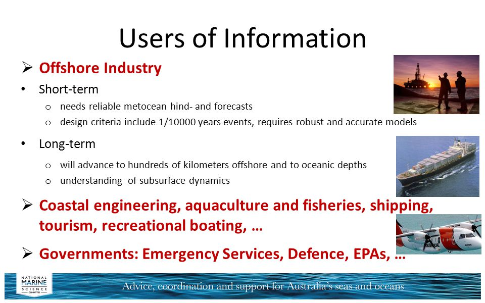 Users of Information Offshore Industry