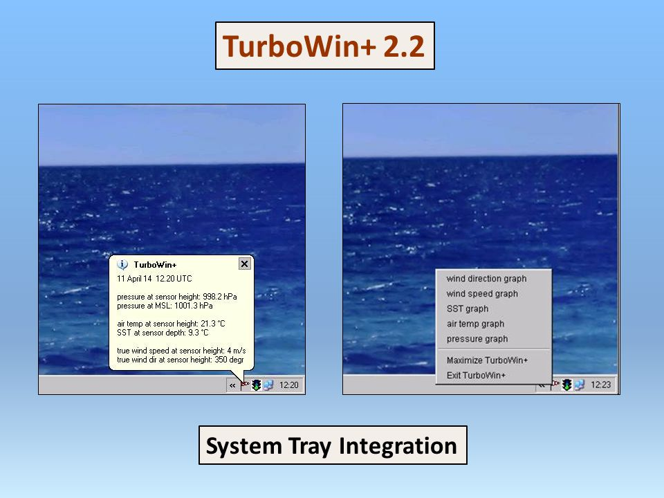 TurboWin+ 2.2 System Tray Integration