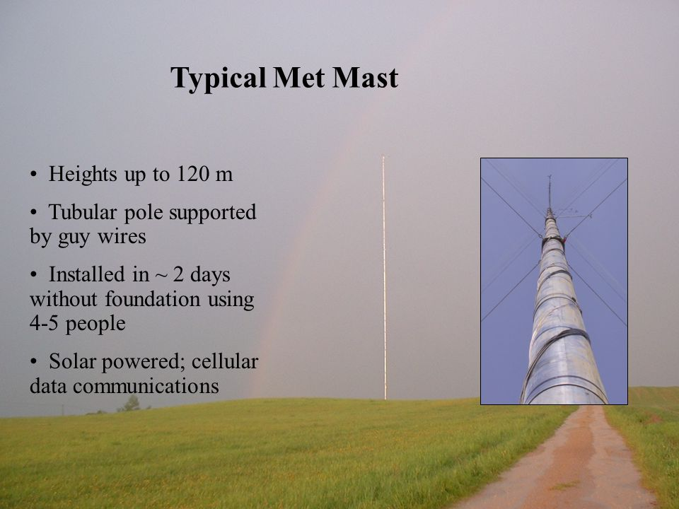 Typical Met Mast Heights up to 120 m