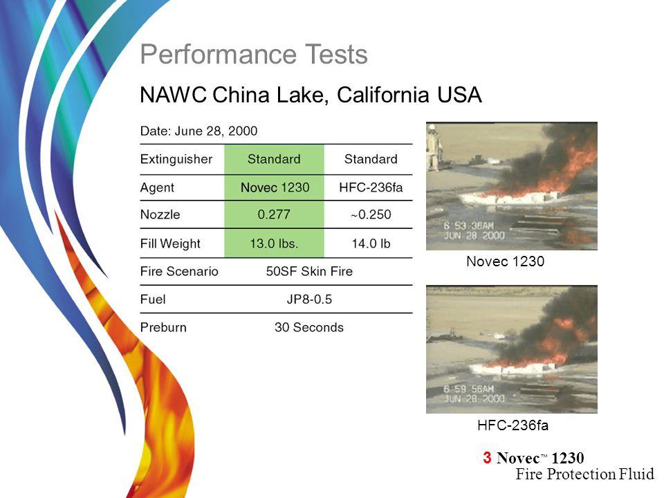 Performance Tests NAWC China Lake, California USA Novec 1230