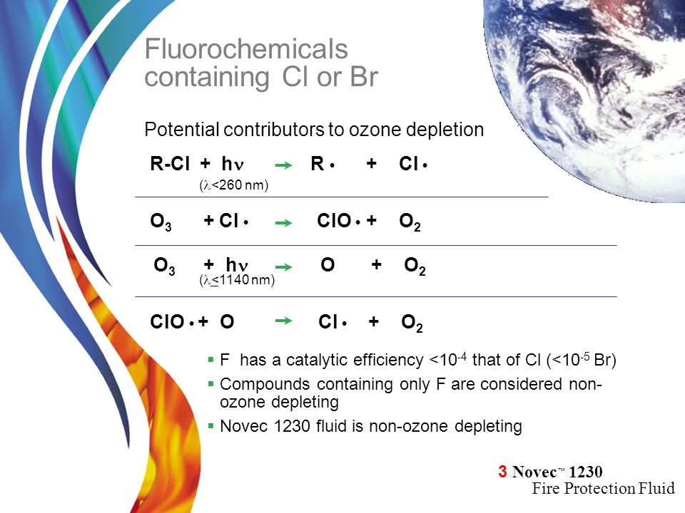 Fluorochemicals containing Cl or Br