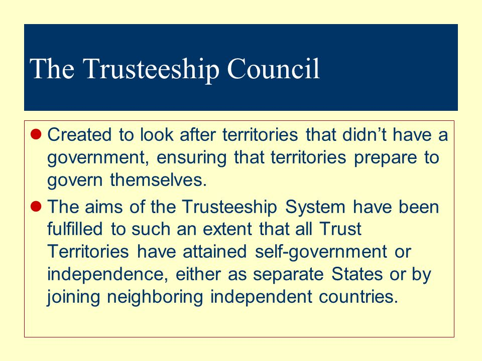 The Trusteeship Council