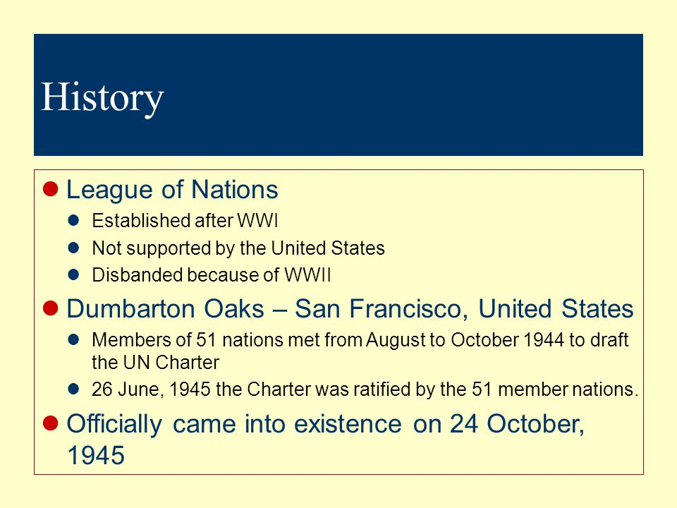 History League of Nations