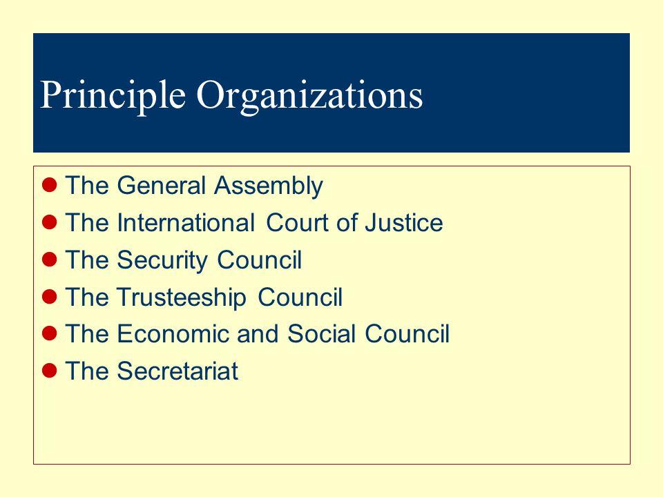 Principle Organizations