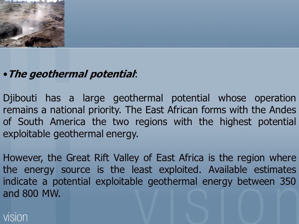 The geothermal potential:
