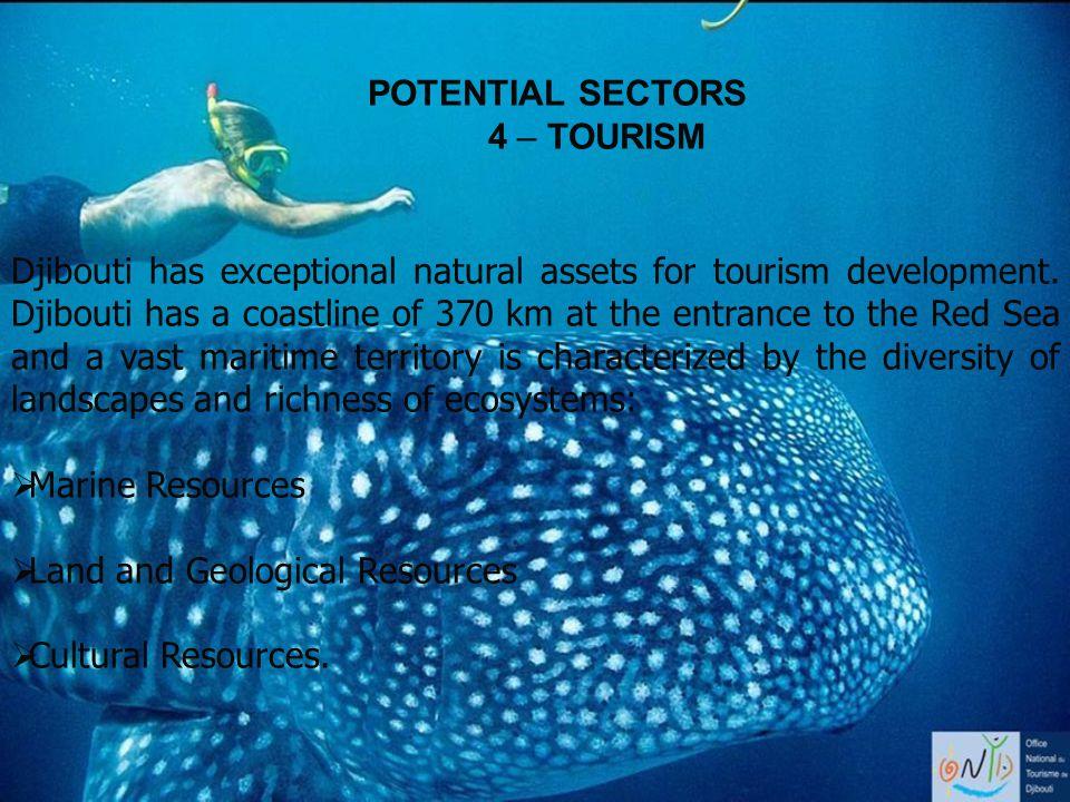 POTENTIAL SECTORS 4 – TOURISM.