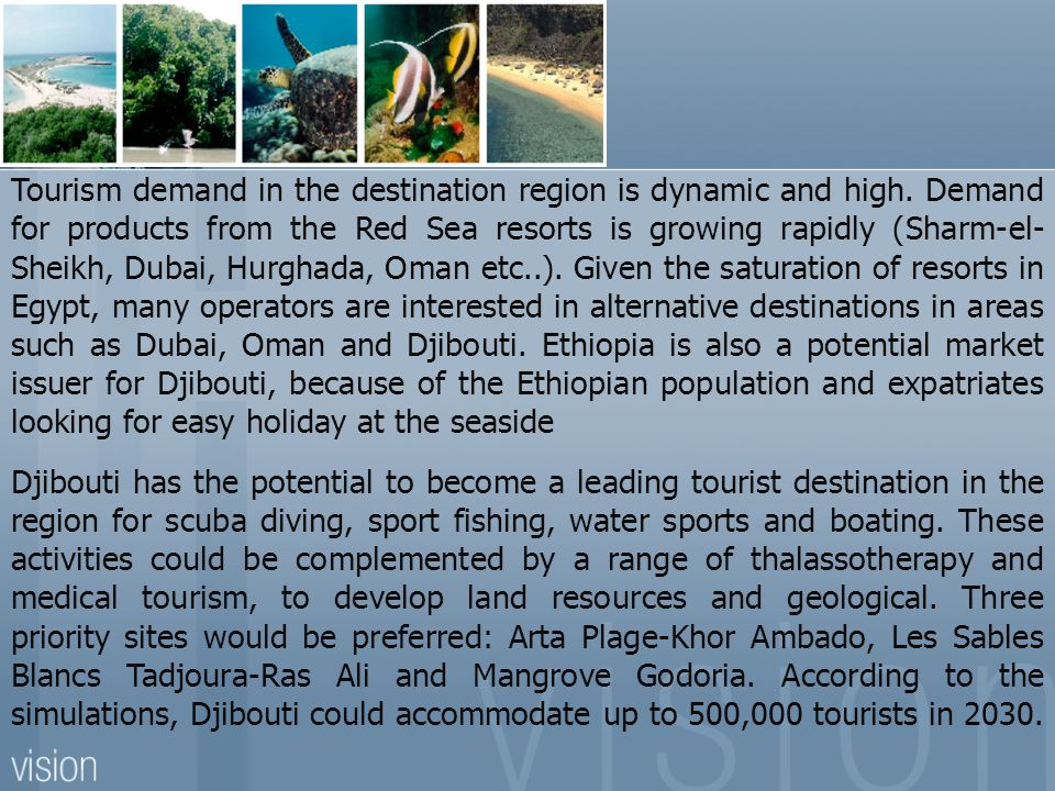 Tourism demand in the destination region is dynamic and high