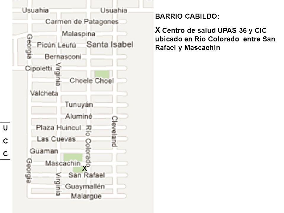 BARRIO CABILDO: X Centro de salud UPAS 36 y CIC ubicado en Río Colorado entre San Rafael y Mascachin.
